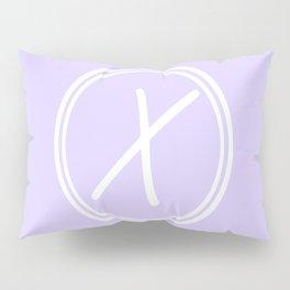 Monogram - Letter X on Pale Violet Background Pillow Sham