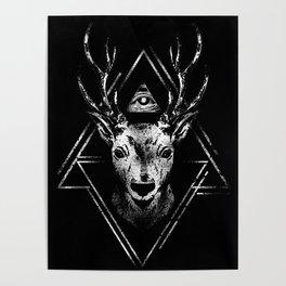 Reindeer Illuminati Eye Poster