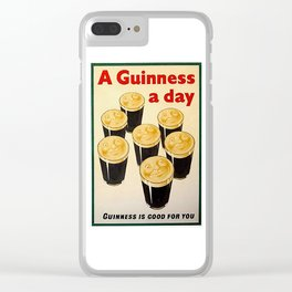 Vintage Guinness Advert Art Clear iPhone Case