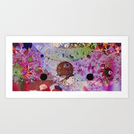Fantasy fractal in bright psychedelic colours Art Print