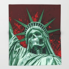 Liberty or Death Throw Blanket