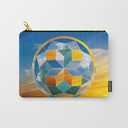 Sacred geometry sunset Carry-All Pouch