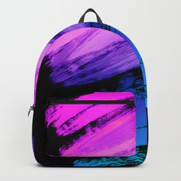 Hot Pink to Sky Blue Abstract Brushstrokes Backpack