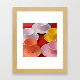 Cups Framed Art Print