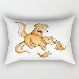 Golden Family Rectangular Pillow
