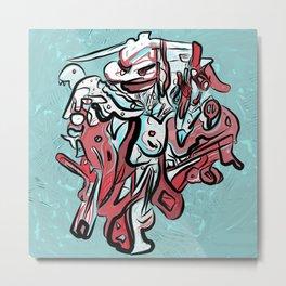 285. Abstract Monsters 1 Metal Print