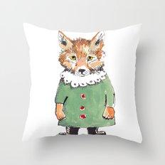 Bear Fox Throw Pillow