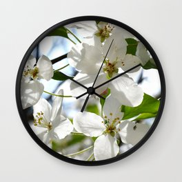 Crabapple Flowers 05 Wall Clock