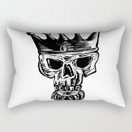 King Beard Skull Scratchboard Rectangular Pillow