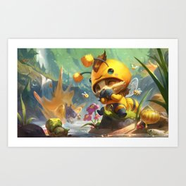 Beemo Teemo League Of Legends Art Print
