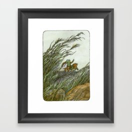 Frog and Toad - the kite Framed Art Print