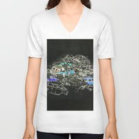 cars V-neck T-shirts featuring Cars by Alyssa Dennis