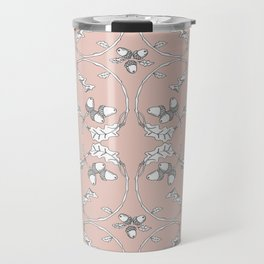 Acorns and ladybugs pink pattern Travel Mug