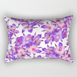 Vintage Floral Violet Rectangular Pillow