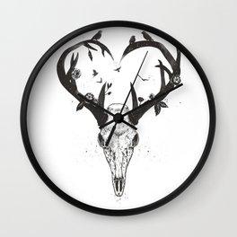 Neverending love (bw) Wall Clock