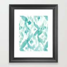 Fiji Aqua Diamonds Framed Art Print
