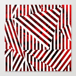 Striped Red Tiger Canvas Print
