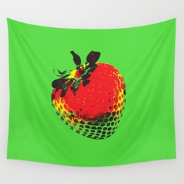 Strawberry Green - Posterized Wall Tapestry