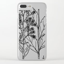 Botanical Scientific Illustration Black and White Clear iPhone Case