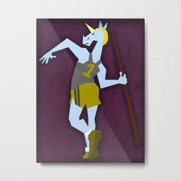 Javelin Throw Unicorn Metal Print