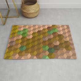Multicolor blocks Rug