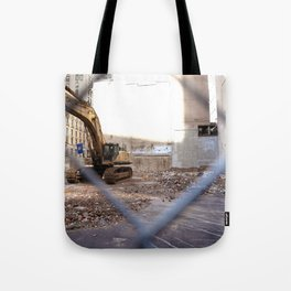 Concrete Jungle Undergoing Maintenance, New York City Tote Bag
