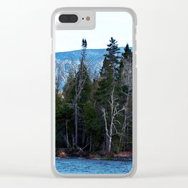 Blue Mountain River Clear iPhone Case