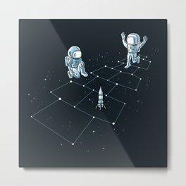 Hopscotch Astronauts Metal Print