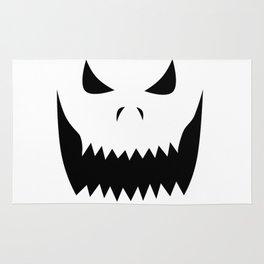 Scary Jack O'Lantern Face Rug