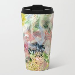 Abstract Floral Metal Travel Mug