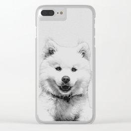 Minimalist Dog Clear iPhone Case