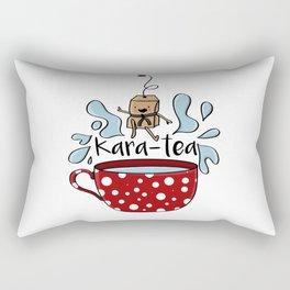 Karate Kara Tea Teabag Present Gift Cup Rectangular Pillow