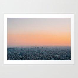Barcelona Sunset 04 Art Print
