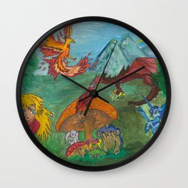 The Fantazy Forest Wall Clock