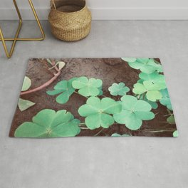 Photography of Green Floral for gardening fans and plants lovers  Rug