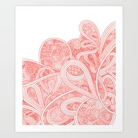 paisley Art Prints featuring Paisley by Laurie Mildenhall