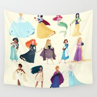 princess Wall Tapestries featuring Princess by Chabe Escalante