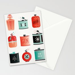Flask Collection – Red & Turquoise Palette Stationery Cards