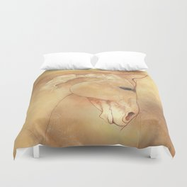The Equine Poll Duvet Cover