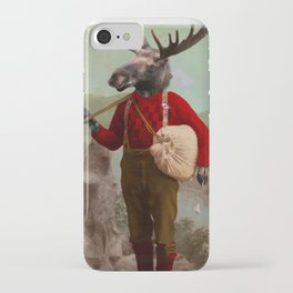 Lumberjack Marvin Moose iPhone Case