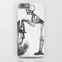 Vanity skeleton iPhone Case