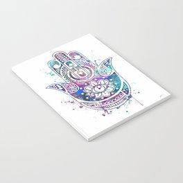 Hamsa Hand Watercolor Poster Wedding Gift Notebook