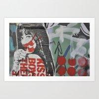 graffiti Art Prints featuring Graffiti by AntWoman