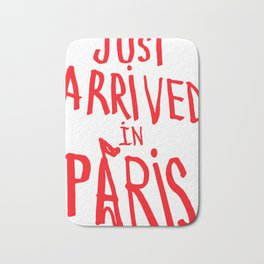 Just Arrived in Paris: Red Bath Mat