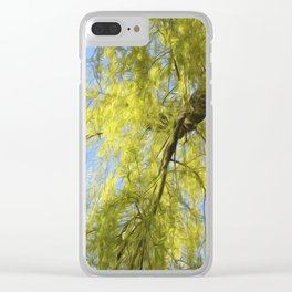 Whispering Willow Clear iPhone Case