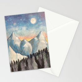 With How Sad Steps, Oh Moon Stationery Cards