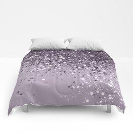 Sparkling Lavender Lady Glitter #2 #shiny #decor #art #society6 Comforters