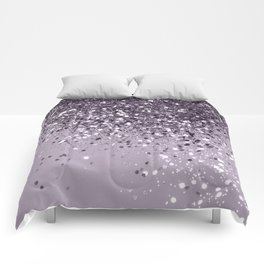 Sparkling Lavender Lady Glitter #2 #shiny #decor #art #society6 Comforters
