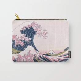 The Great Pink Wave off Kanagawa Carry-All Pouch