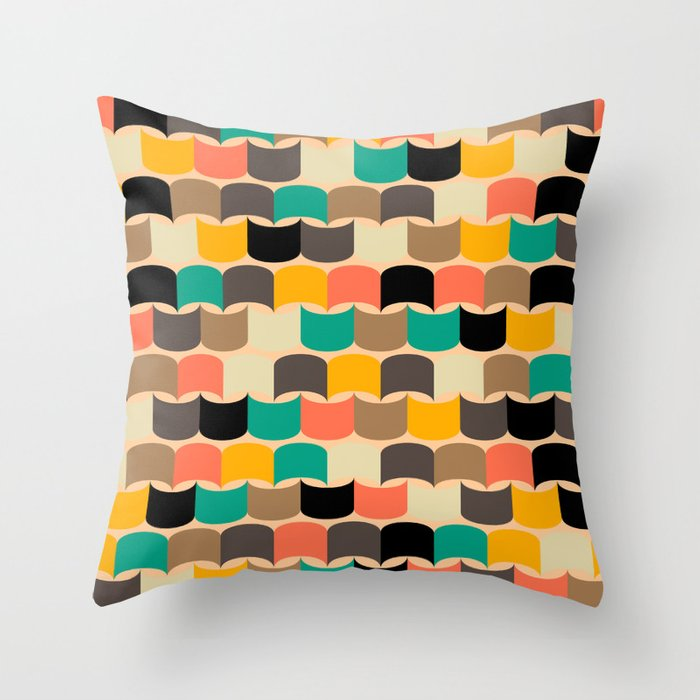 Retro abstract pattern Throw Pillow